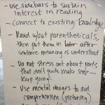 Handwritten List of Reading Strategies